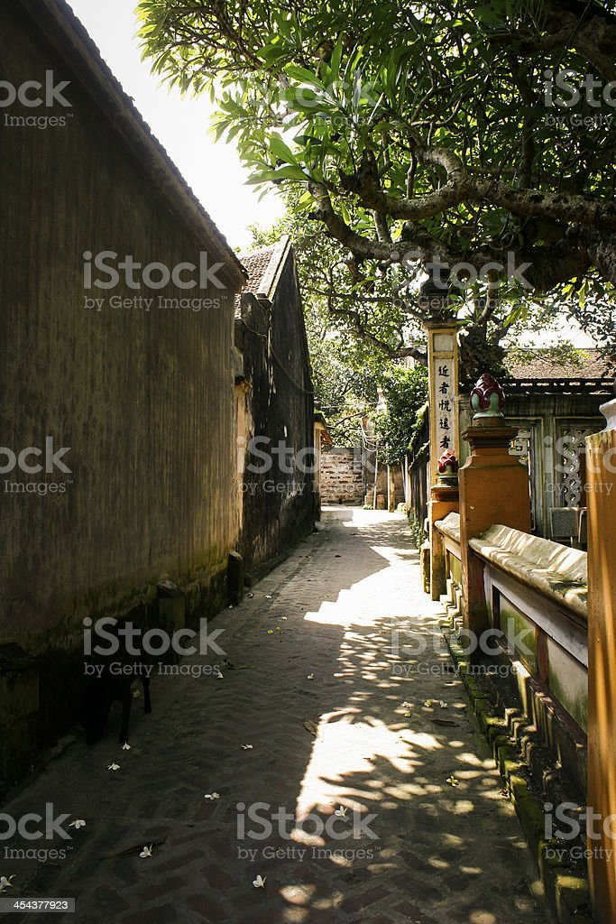 Vietnam countryside - Duong Lam ancient village royalty-free stock photo