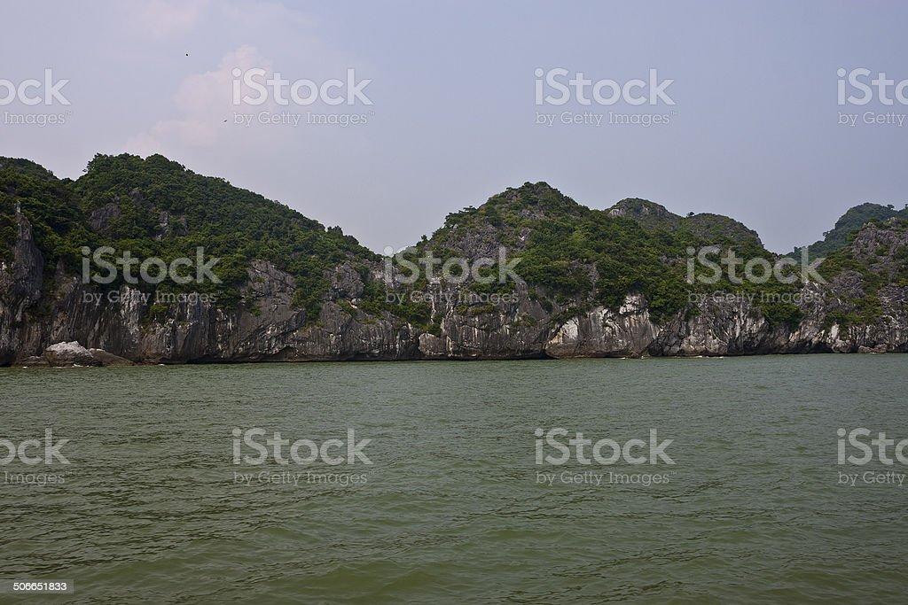 Vietnam limestone landscape stock photo