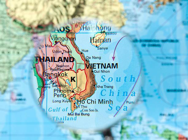 vietnam map stock photo