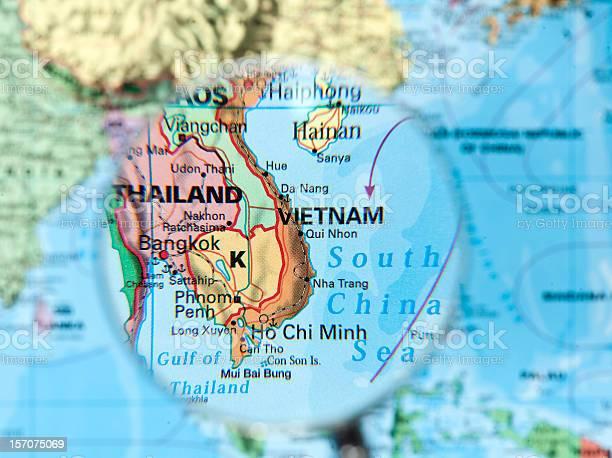 Vietnam Map Stock Photo - Download Image Now