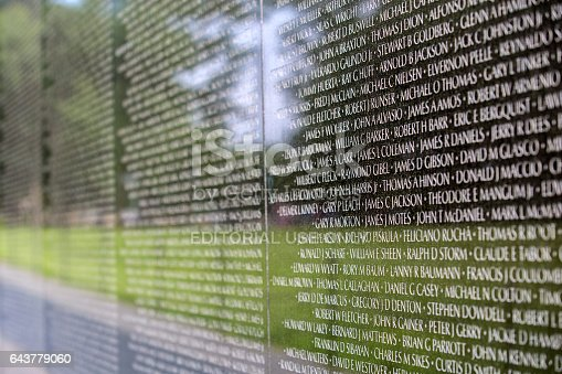 istock Vietnam Memorial on the Mall in Washington DC 643779060