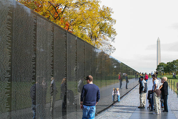 Vietnam Memorial stock photo