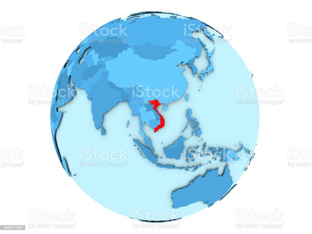 Vietnam auf blauen Globus isoliert – Foto