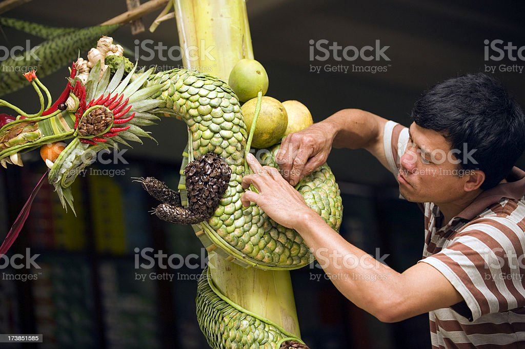 vietnam ornamental dragon decoration royalty-free stock photo