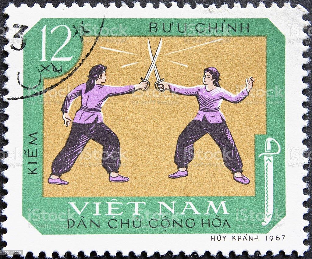 Postagem carimbo do Vietnã - Foto de stock de 1967 royalty-free