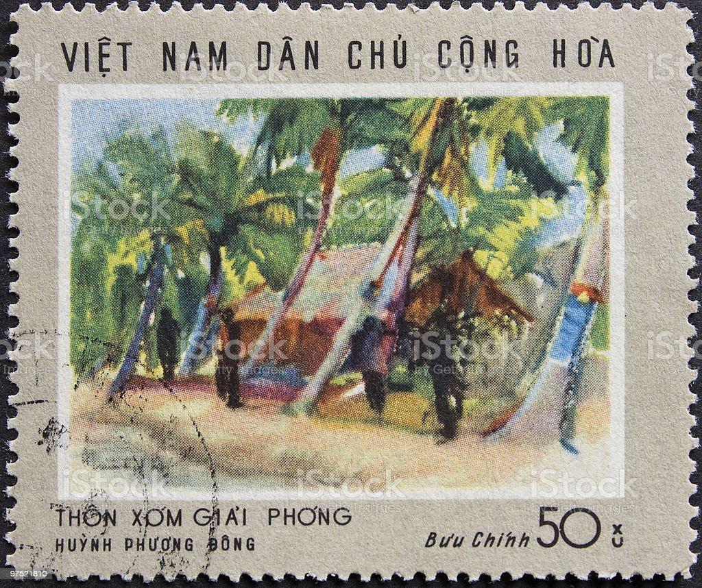 Vietnam Post stamp royalty-free stock photo