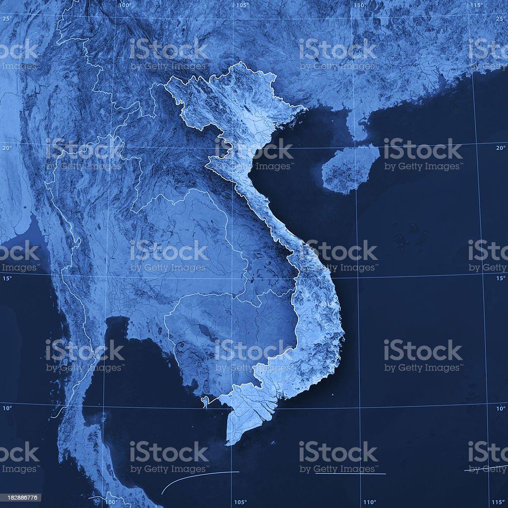 Vietnam Topographic Map royalty-free stock photo
