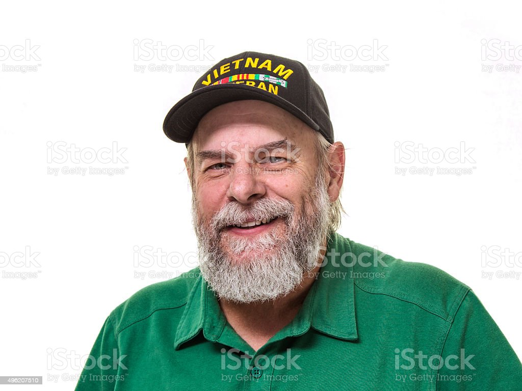 Vietnam USA Military Veteran With a Smile stock photo