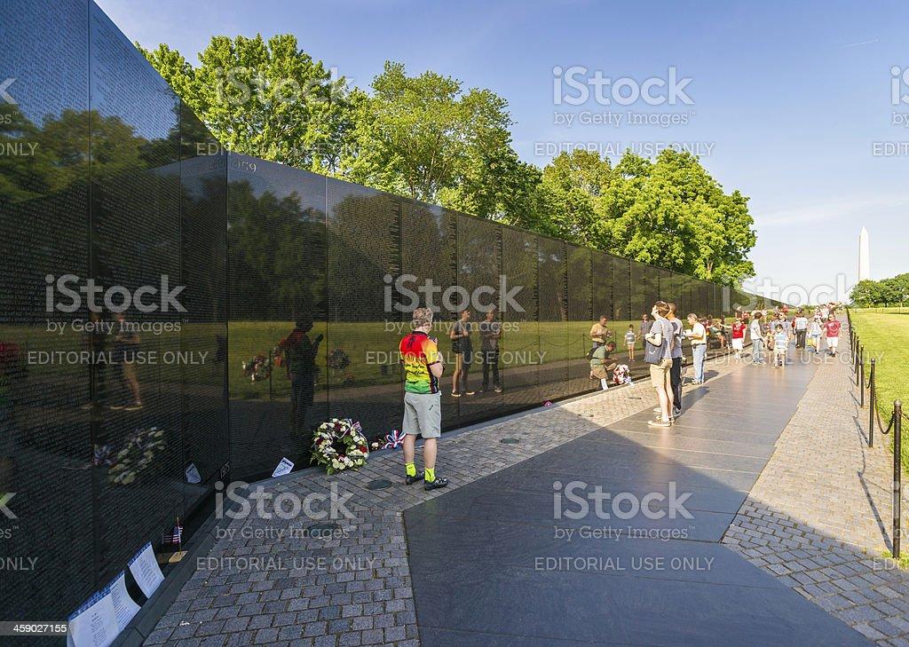 Vietnam Veterans Memorial in Washington, D.C. USA royalty-free stock photo