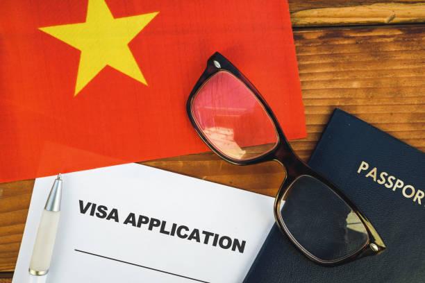 Vietnam visa application stock photo