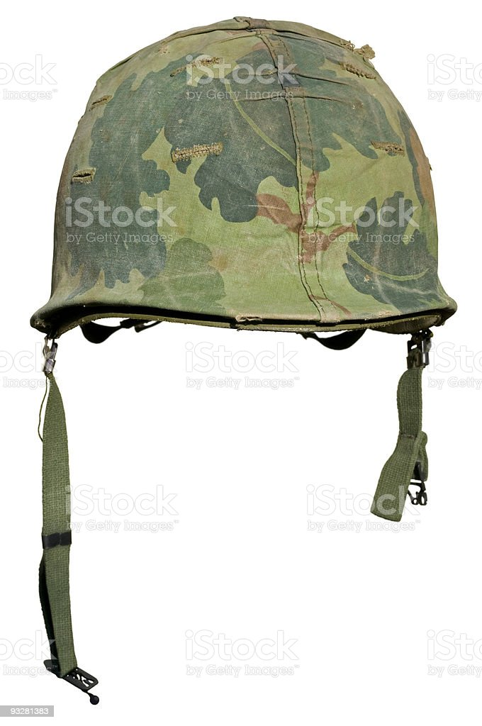 US Vietnam War Helmet royalty-free stock photo