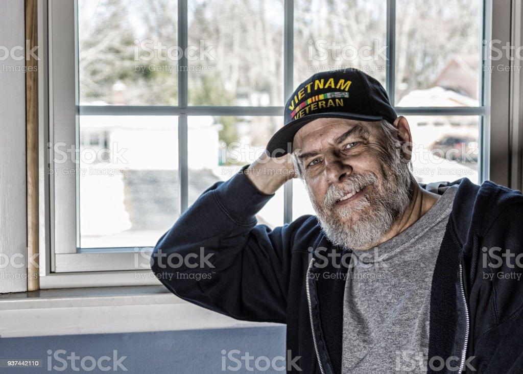 USA Vietnam militärische Kriegsveteran zu Hause – Foto
