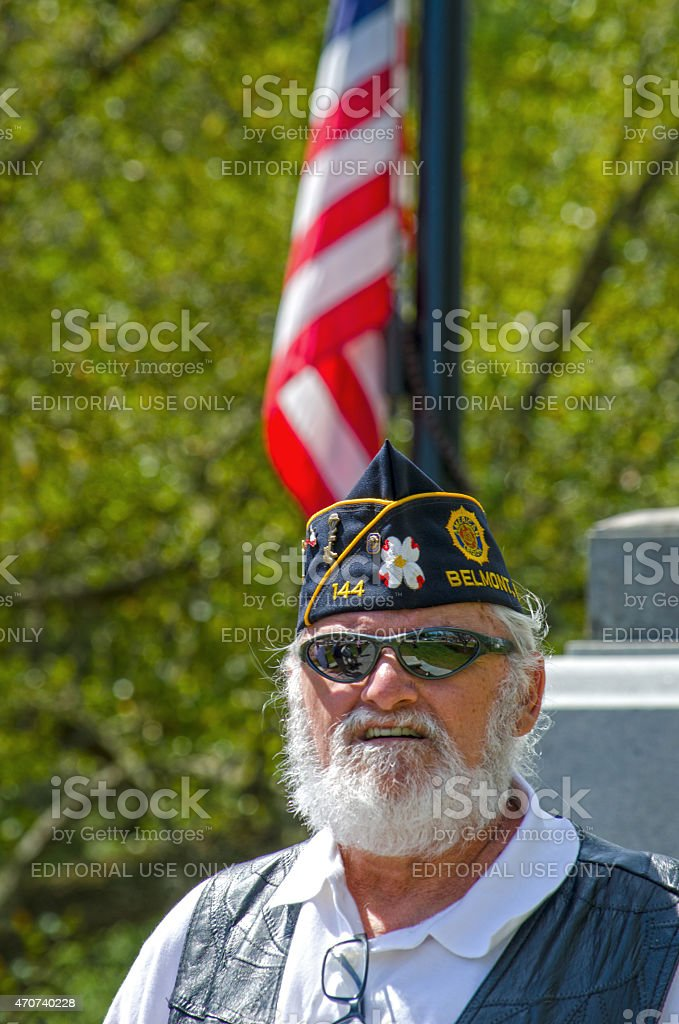 Vietnam War Veteran from American Legion Post 144 stock photo
