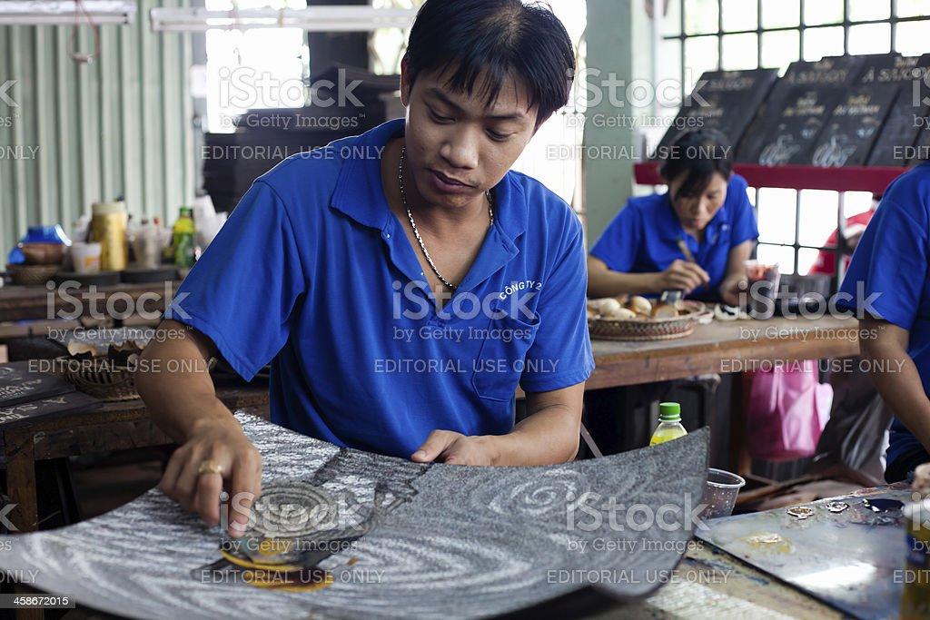 Vietnam war's behindertengerechte Handwerk in Ho-Chi-Minh-Stadt – Foto