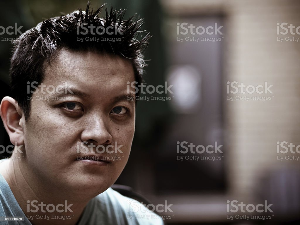 Vietnamese American Man royalty-free stock photo