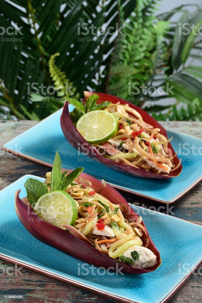 Vietnamese Banana Blossom Salad stock photo