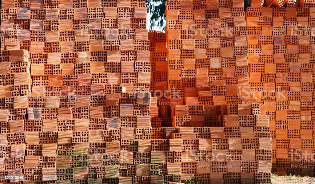 Vietnamese  brick stock photo