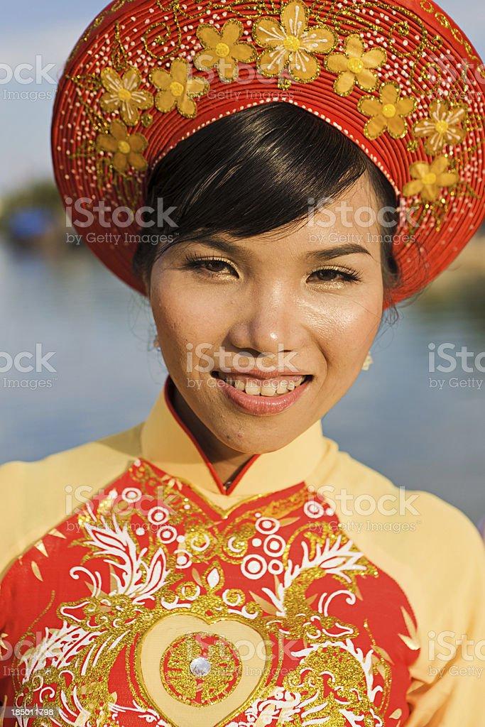 Vietnamese bride royalty-free stock photo