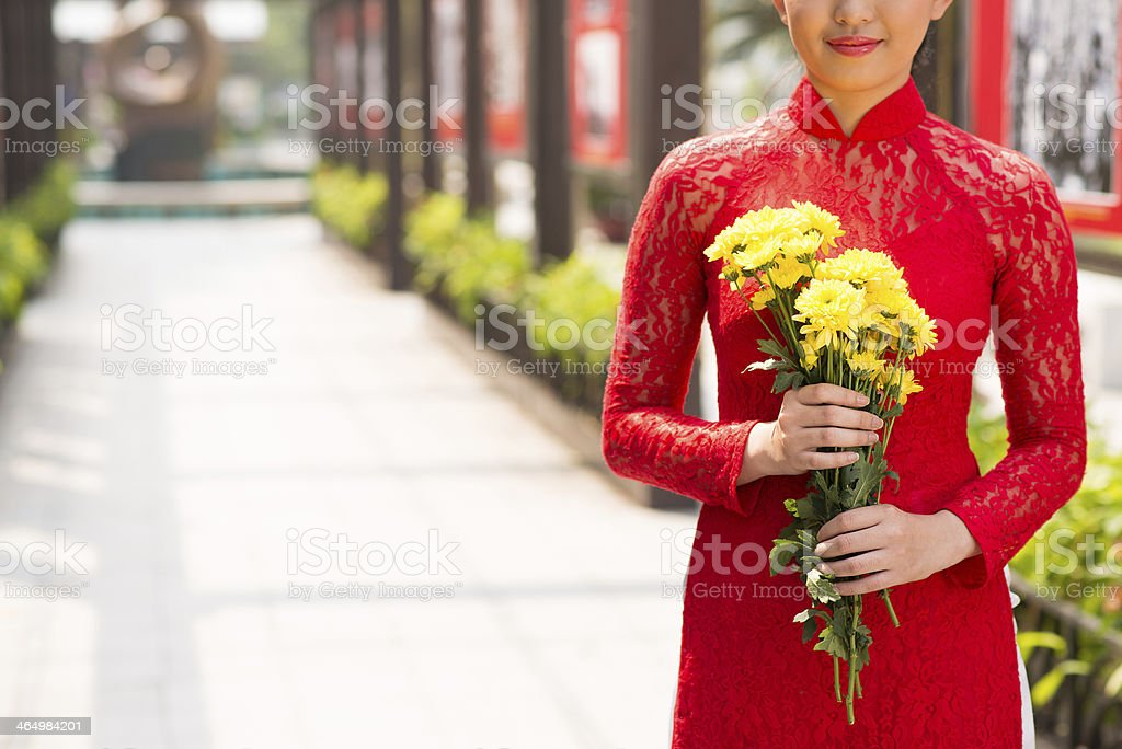 Vietnamese clothing stock photo