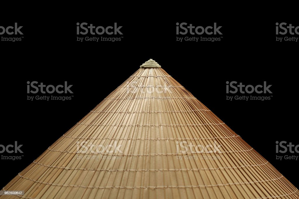 Vietnamese conical straw hat isolated - Royalty-free Abstract Stock Photo