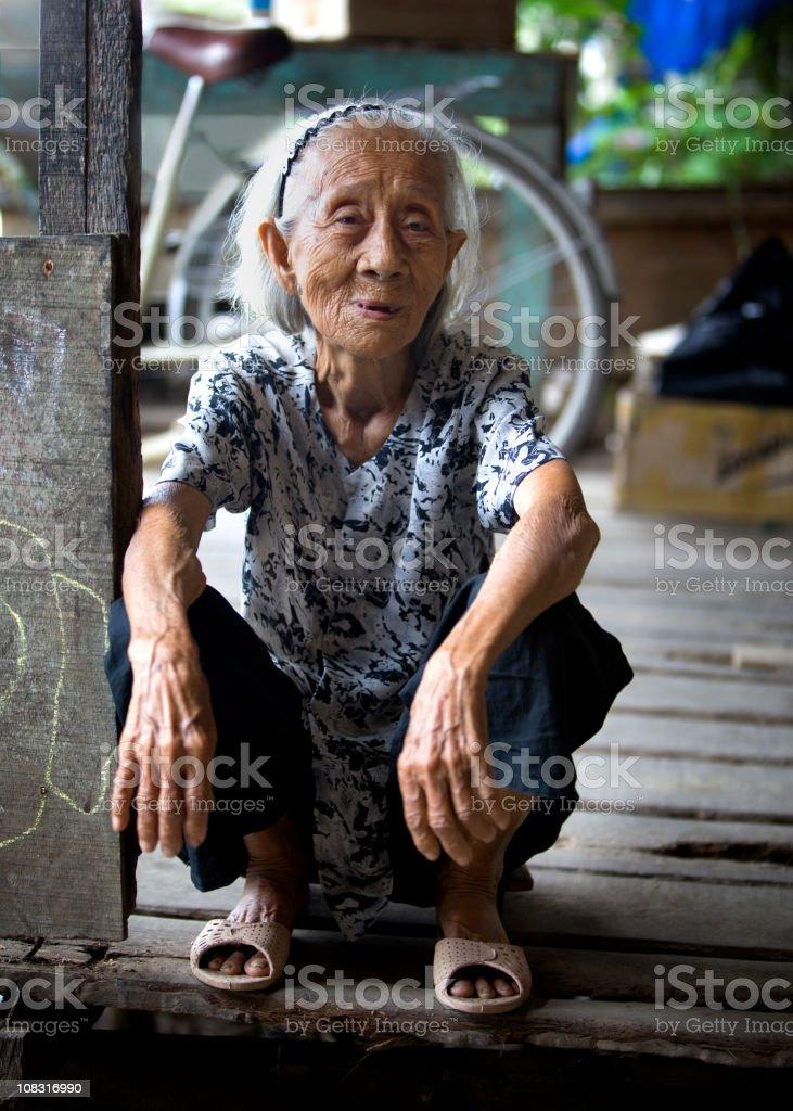 Vietnamese Elderly Woman stock photo