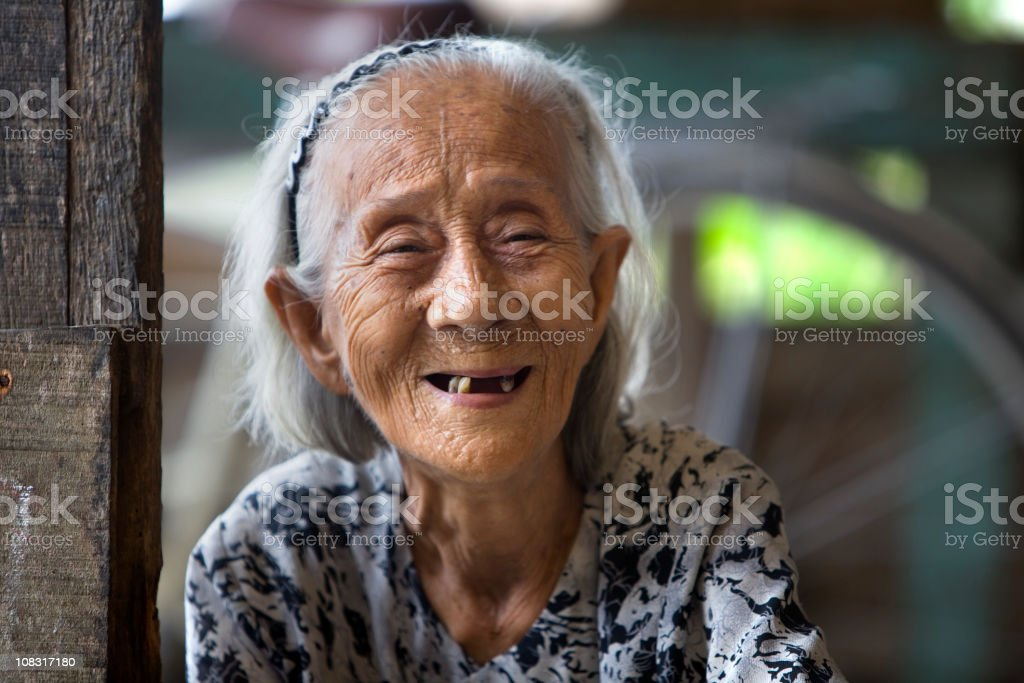 Vietnamese Elderly Woman stock photo