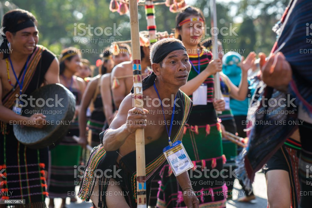Vietnamese ethnic minority people stock photo