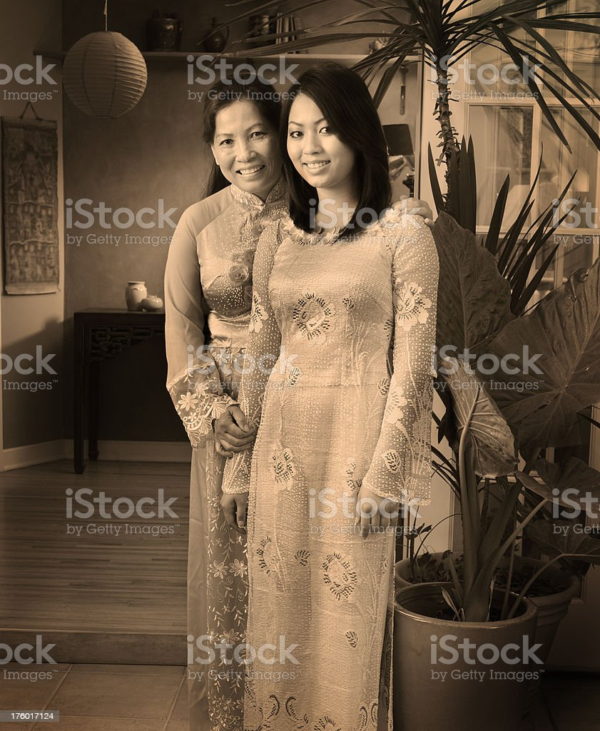 Vietnamese Family - Mother and Daughter royalty-free stock photo