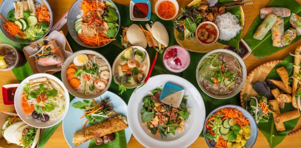 Vietnamese food background. stock photo