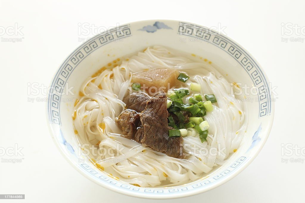 Vietnamese food, rice noodles Pho royalty-free stock photo