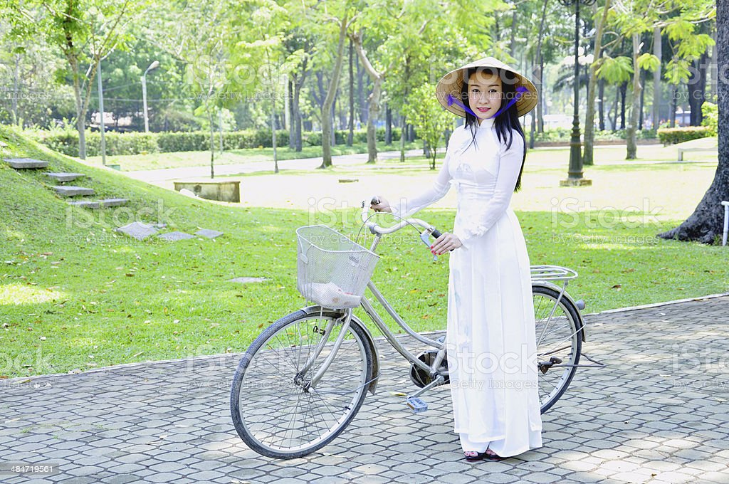 Vietnamese girl stock photo