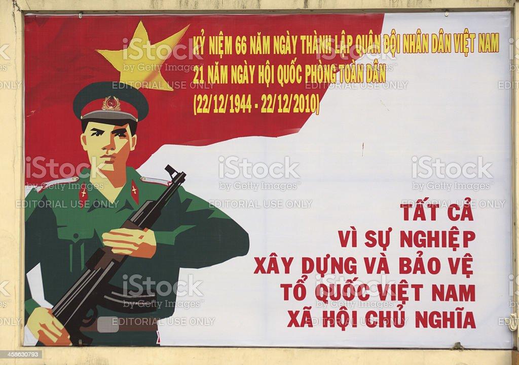 Vietnamese Government Propaganda stock photo