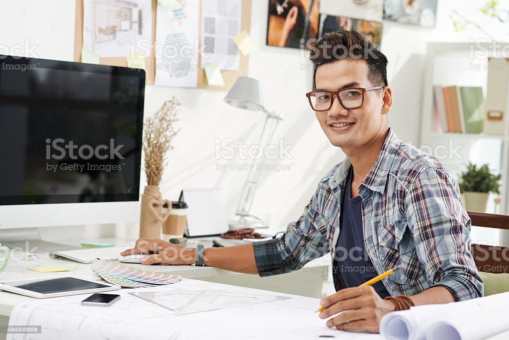 Vietnamese interior designer stock photo
