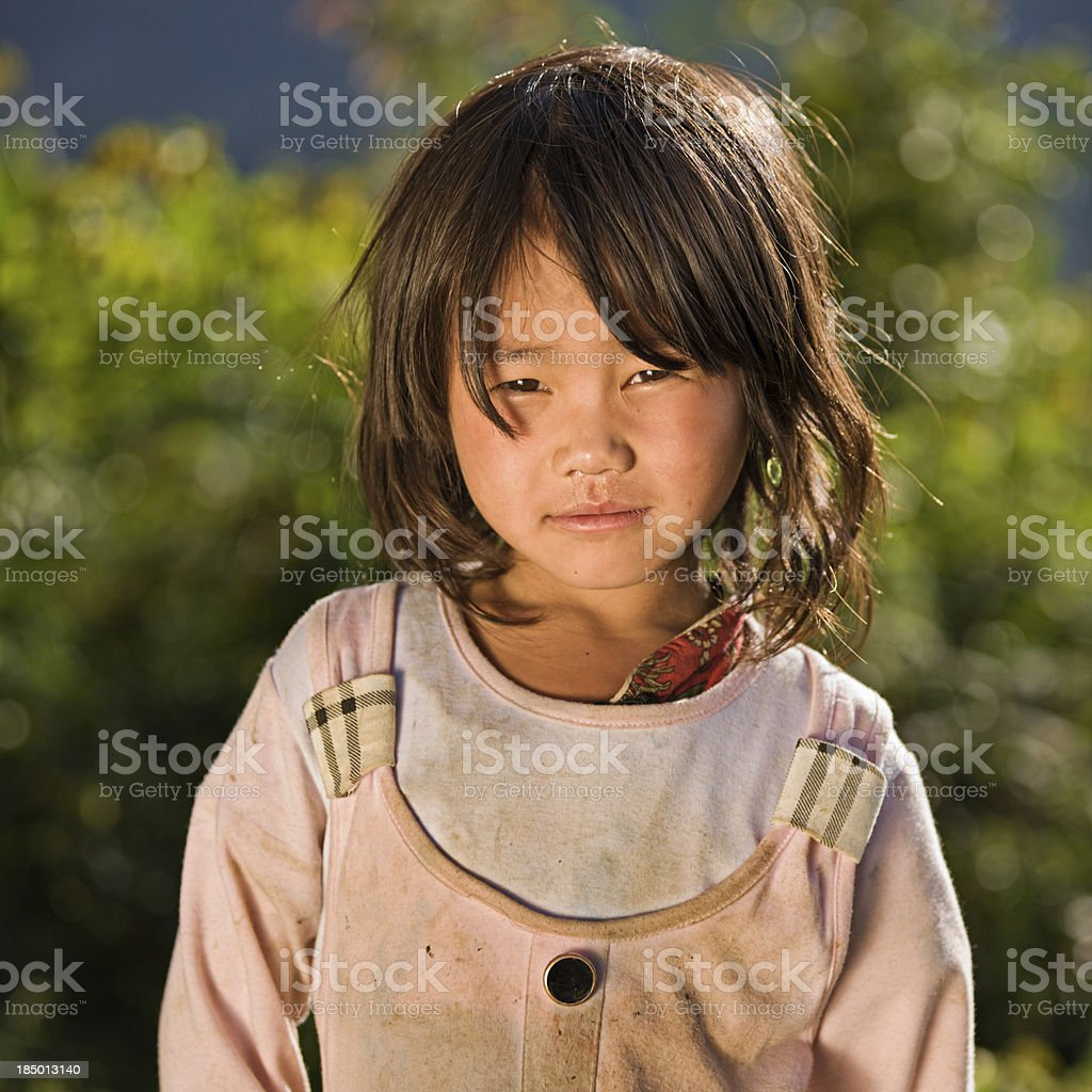 Vietnamese little girl from Hmong Tribe royalty-free stock photo