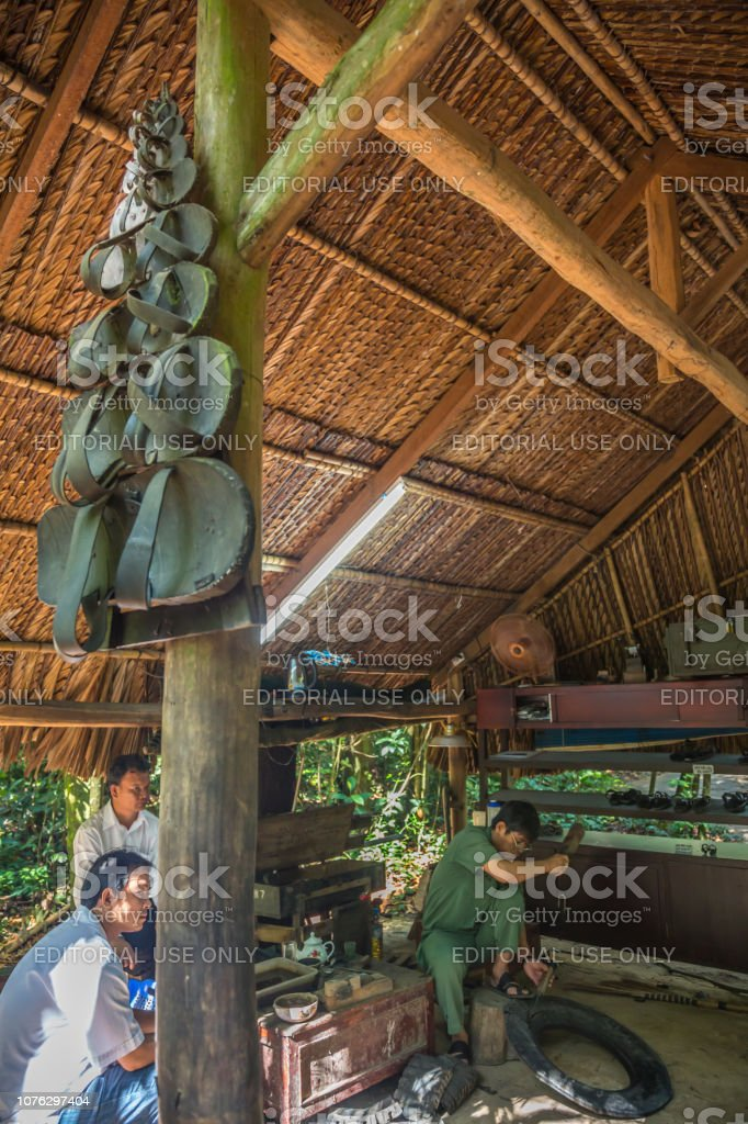 Vietnamese Make Sandals With Old Tires Vietnam Stock Photo