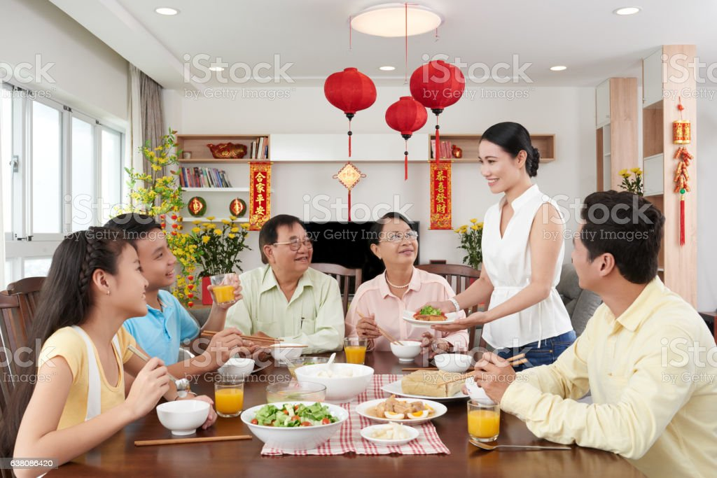 Vietnamese New Year stock photo