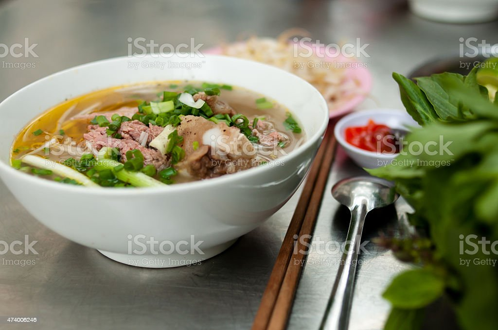 Vietnamese Noodles, Pho stock photo
