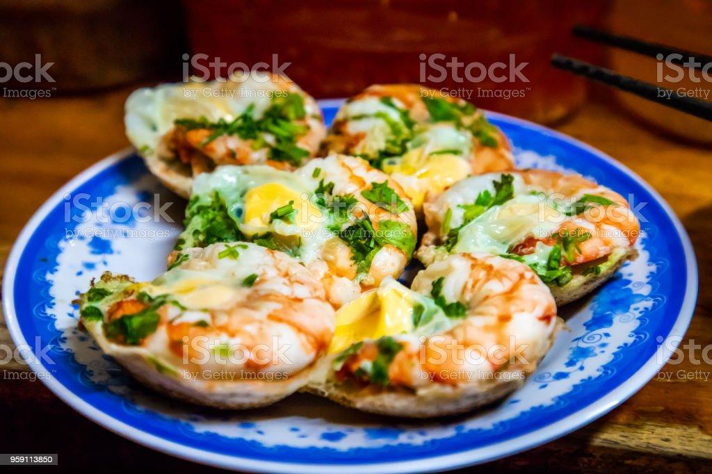 Vietnamese Rice Cake Bánh Căn in Nha Trang, Vietnam stock photo