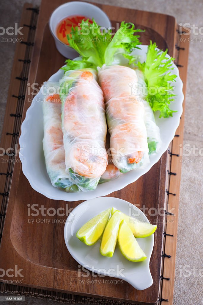 Vietnamese Rice Paper Rolls royalty-free stock photo