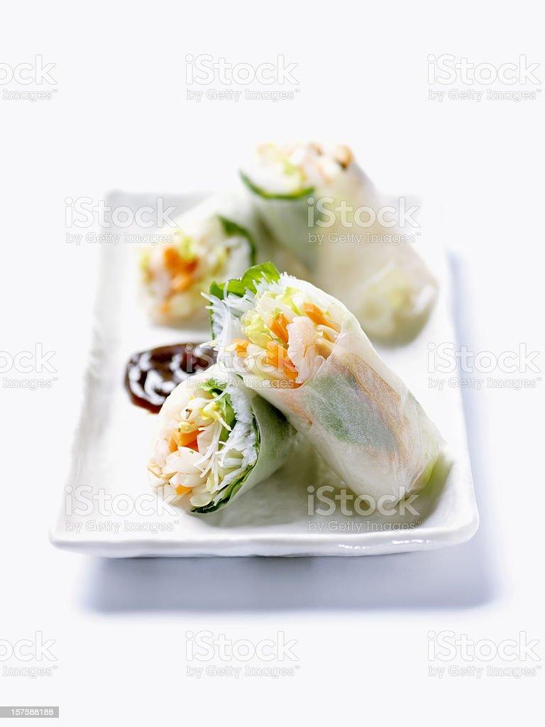 Vietnamese Shrimp Rice Paper Rolls royalty-free stock photo