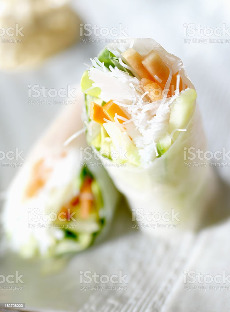 Vietnamese Shrimp Rice Paper Rolls royalty-free stock photo