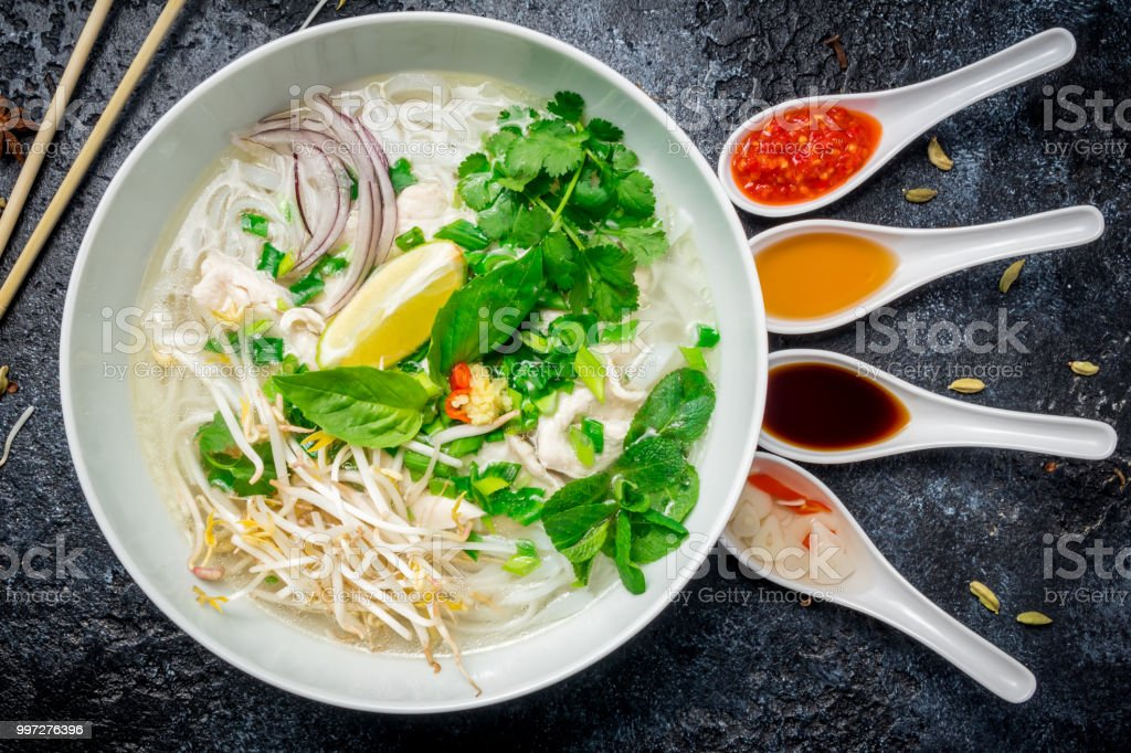 Vietnamese Soup Pho Ga Stock Photo - Download Image Now - iStock