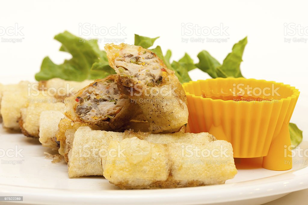 Vietnamese spring roll royalty-free stock photo