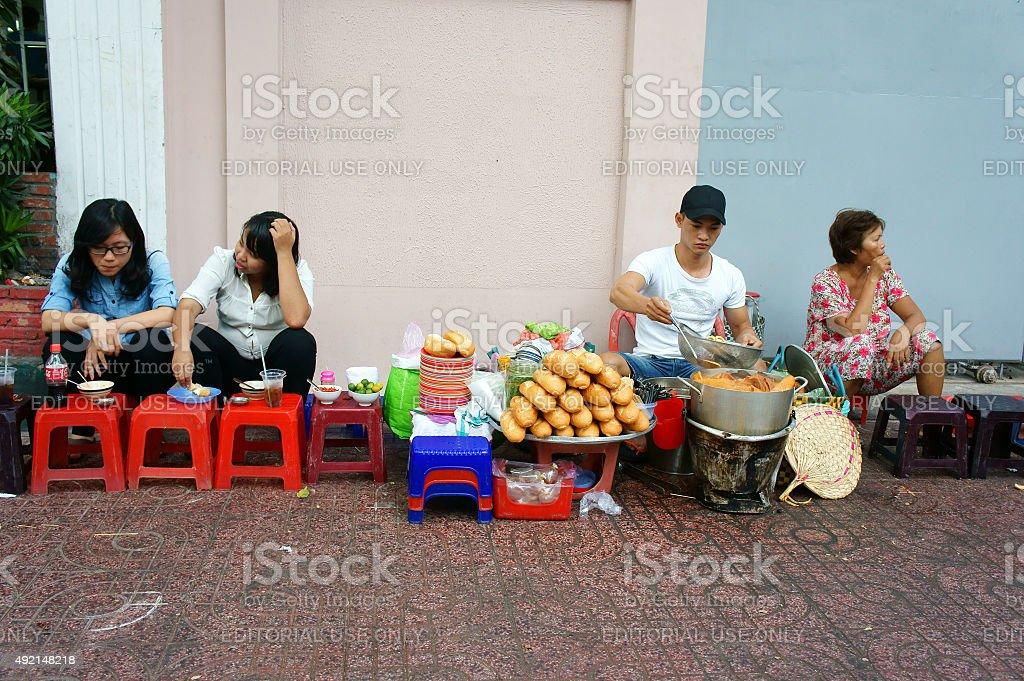 Vietnamese street food, streetfood, Vietnam, ho chi minh stock photo