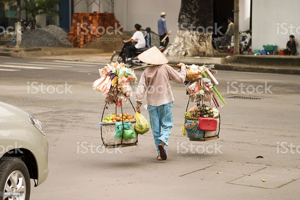Vietnamese Street Vendor stock photo