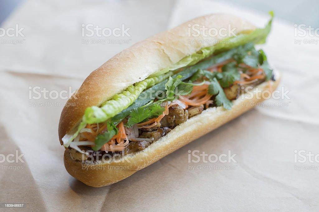 Vietnamese Sub Banh mi stock photo