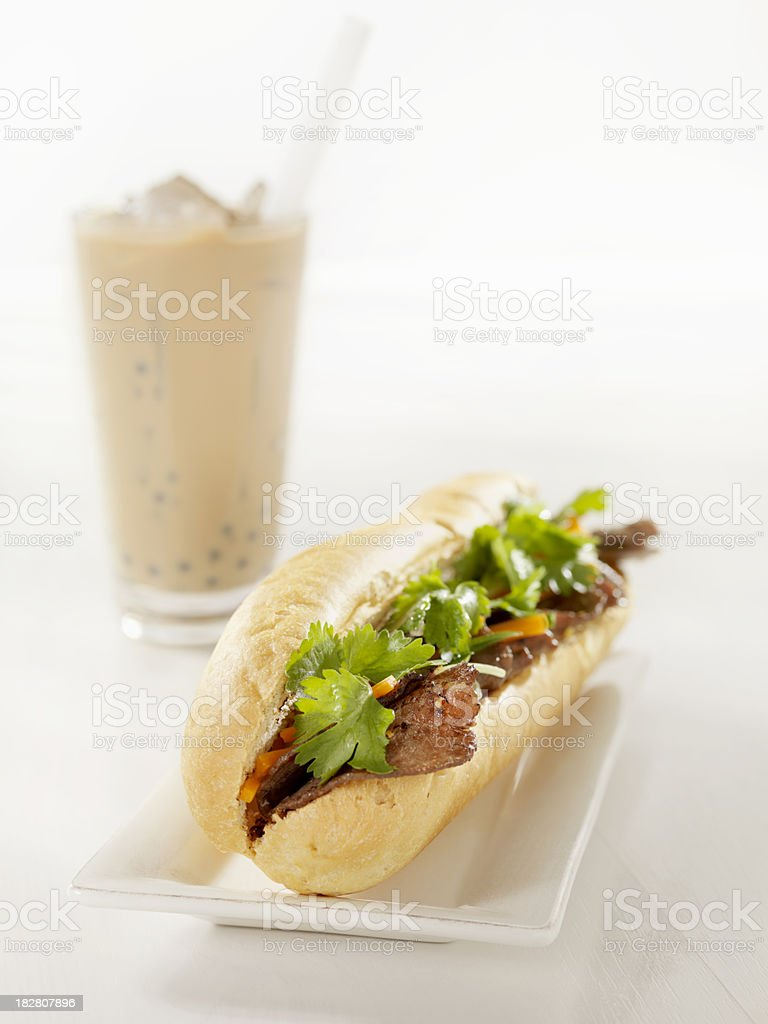 Vietnamese Sub Sandwich with Grilled Beef royalty-free stock photo