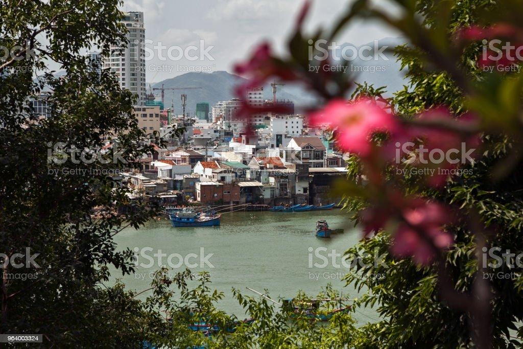 Vietnamese town Nha Trang beautiful cityscape - Royalty-free Architecture Stock Photo