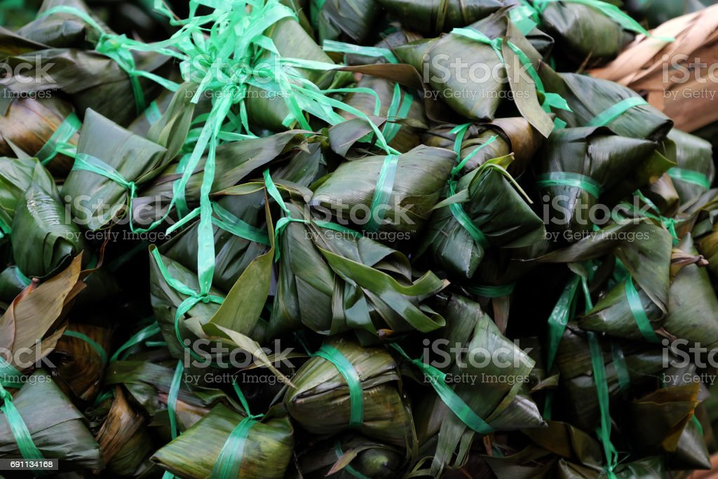 Vietnamese traditional food, banh u tro stock photo