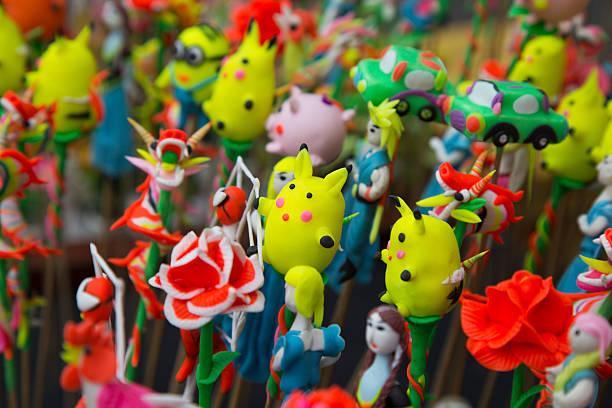 vietnamese traditional toys (called to he) for children - pflanzen pokemon stock-fotos und bilder